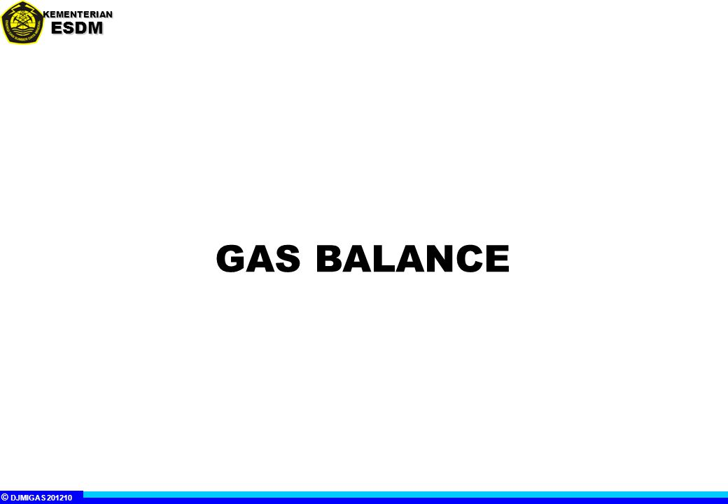 © DJMIGAS 201210 KEMENTERIANESDM INDONESIA GAS BALANCE 2011-2025