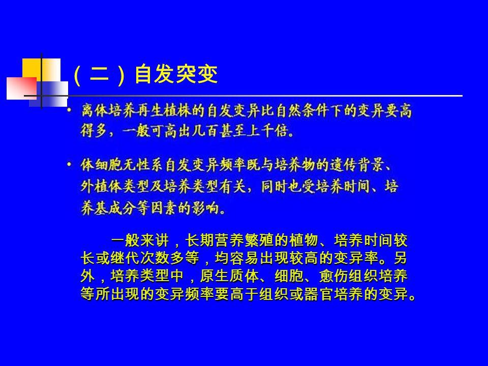 (三)诱变 物理诱变 化学诱变 转座子插入