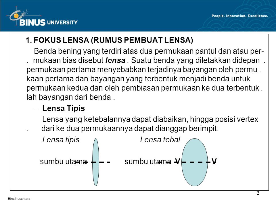 Bina Nusantara lensa okuler lensa obyektif obyek bayangan bayangan imajiner Skema : Jalan berkas sinar (Mikroskop) 24 mata