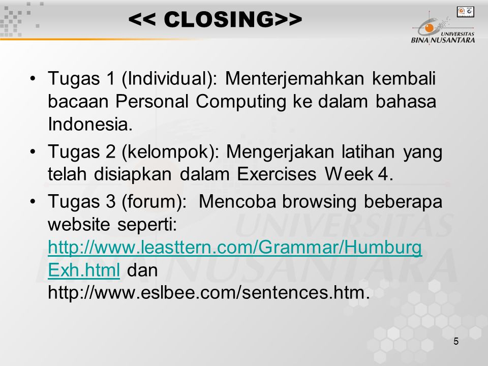 5 > Tugas 1 (Individual): Menterjemahkan kembali bacaan Personal Computing ke dalam bahasa Indonesia.