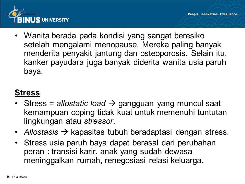 Bina Nusantara Wanita berada pada kondisi yang sangat beresiko setelah mengalami menopause.