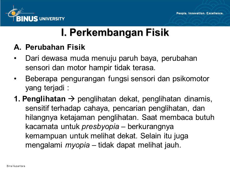 Bina Nusantara Rangkuman Periode Middle Adulthood menurut Papalia, et.