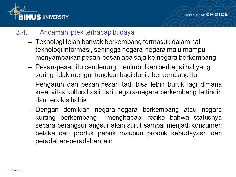 Bina Nusantara 4.Pilihan teknologi tepat guna 4.1.