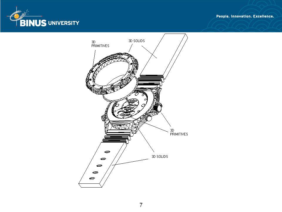 8 Kesimpulan Dalam pembuatan modeling 3D Autocad mempunyai 2 metode 1.