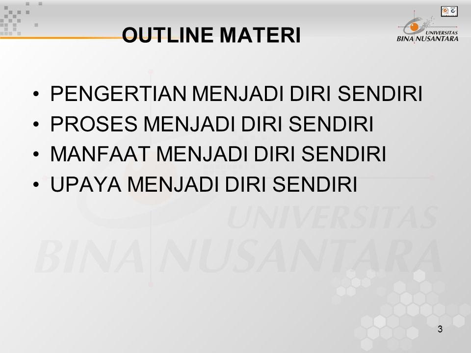 24 Penguasaan materi :  Jika salah 1, penguasaan materi mencapai bobot 90 %  Jika salah 2, penguasaan materi mencapai bobot 80 %, dst.