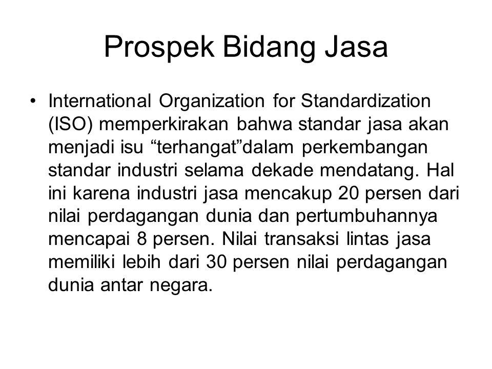 """Prospek Bidang Jasa International Organization for Standardization (ISO) memperkirakan bahwa standar jasa akan menjadi isu """"terhangat""""dalam perkembang"""