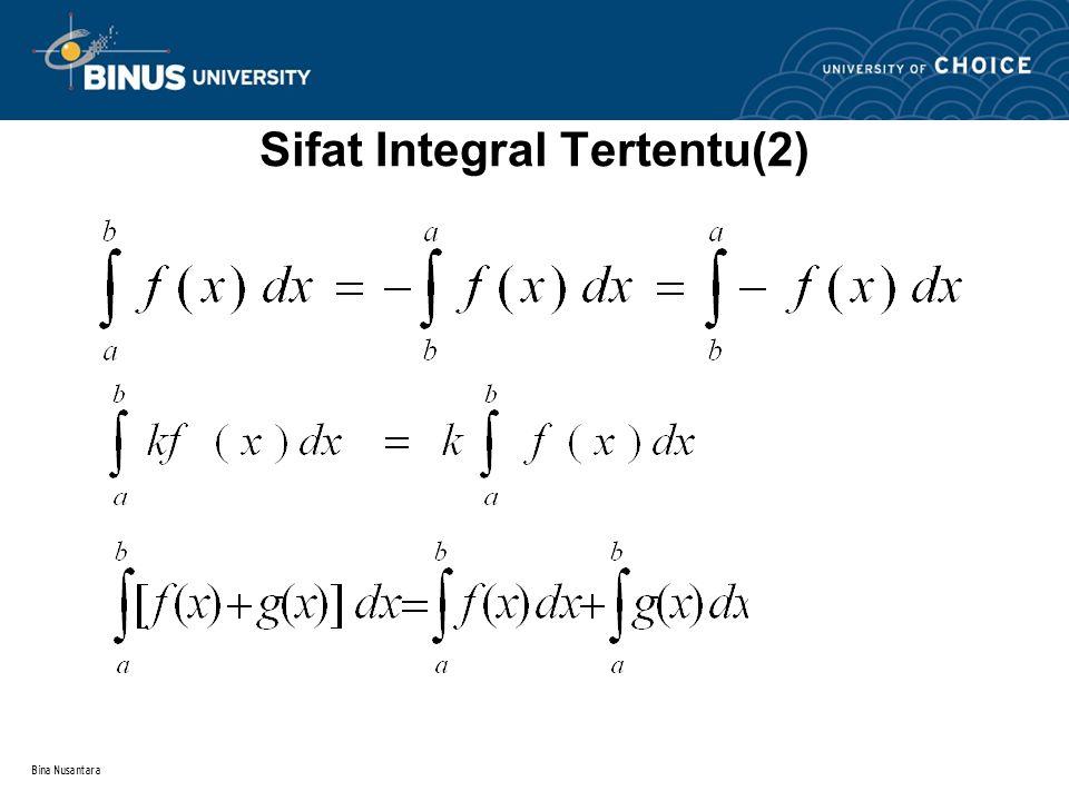 Bina Nusantara Sifat Integral Tertentu(1)