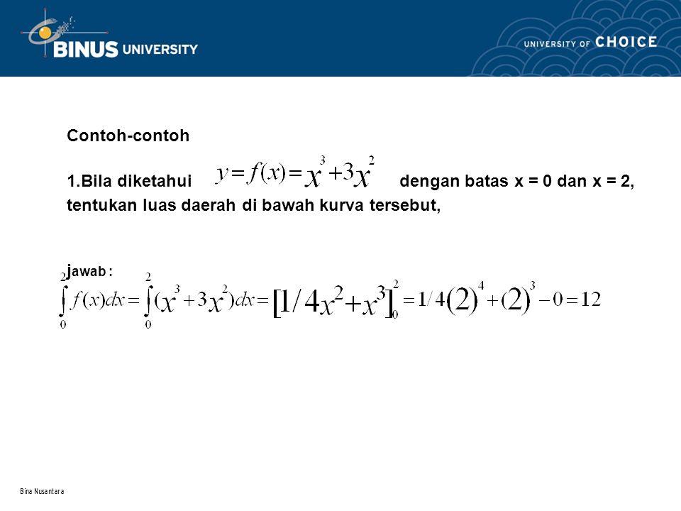 Bina Nusantara Sifat Integral Tertentu(2)