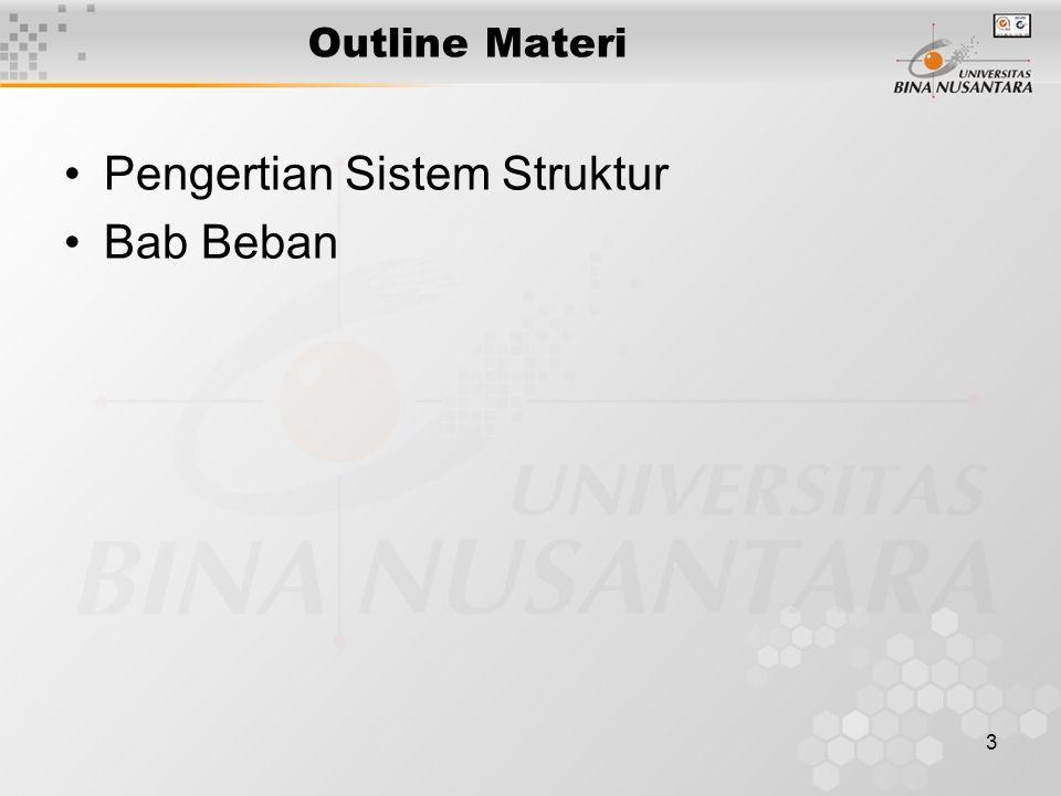 3 Outline Materi Pengertian Sistem Struktur Bab Beban