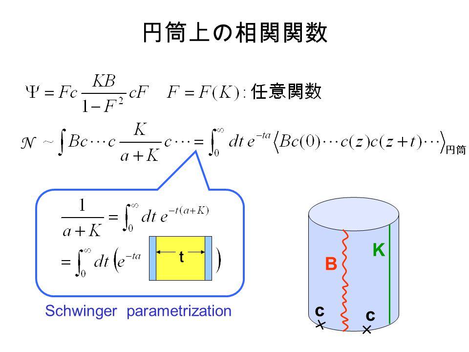 N c c B K Schwinger parametrization t