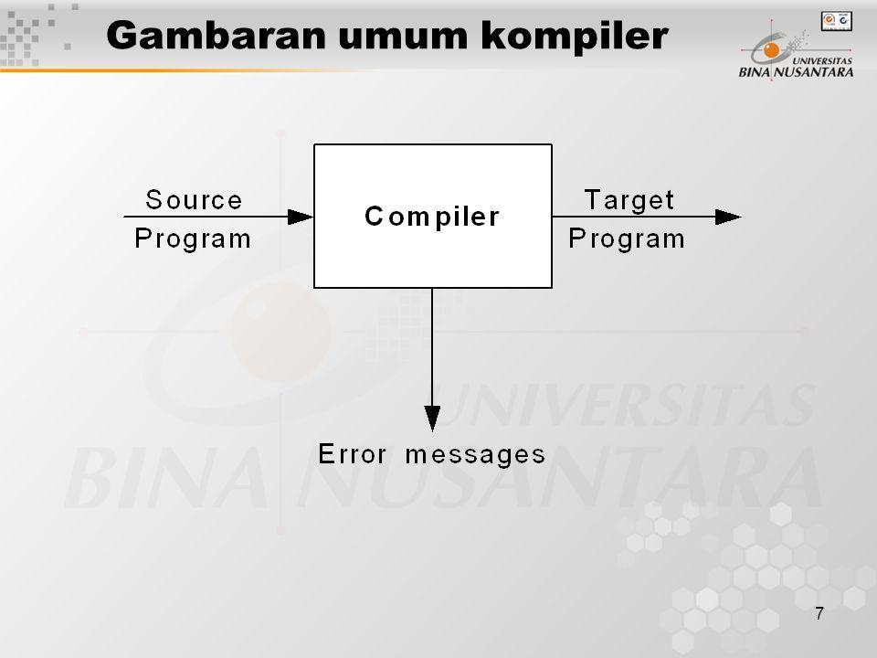 7 Gambaran umum kompiler