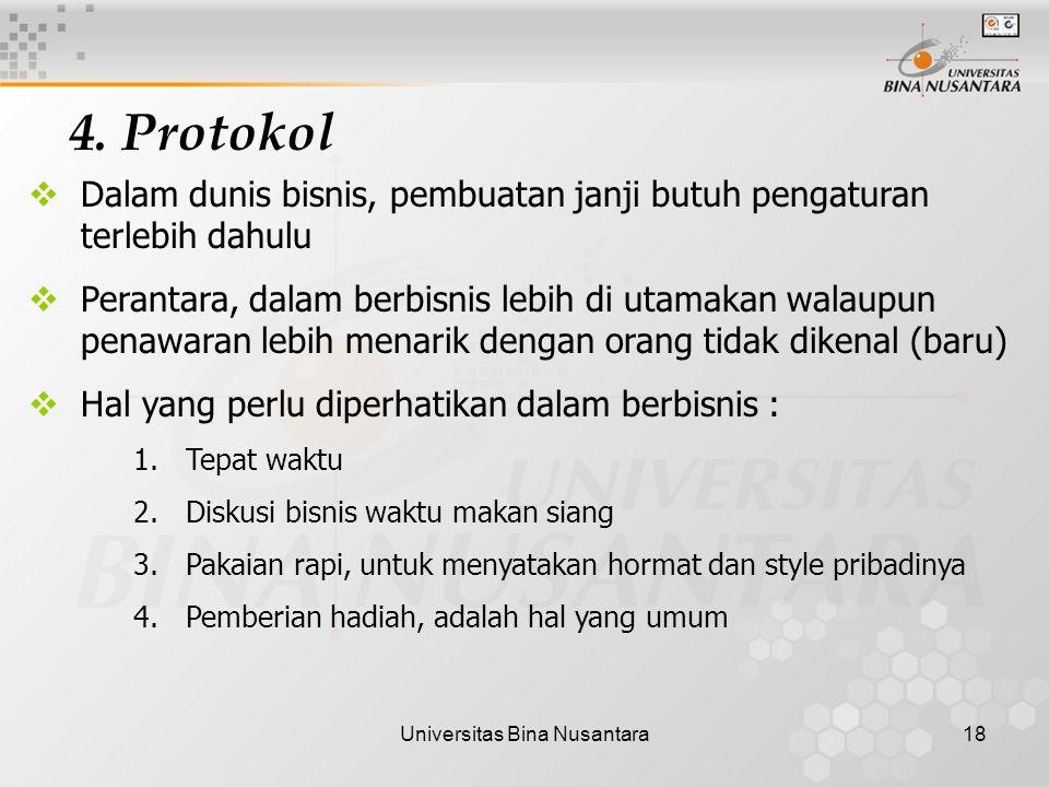 Universitas Bina Nusantara18 4.