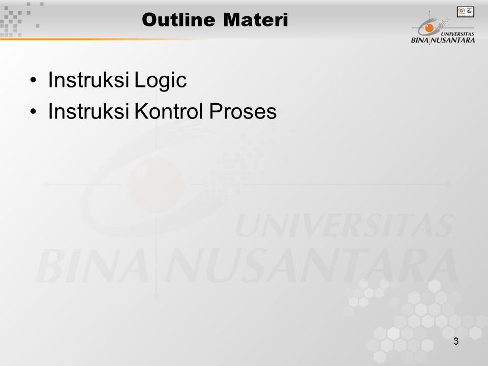 4 > Instruksi Logic Logika Perbandingan Pergeseran/Shift Pemutaran/Rotate and, or, xor, not test shl, sal, shr, sar rol, ror, rcl, rcr