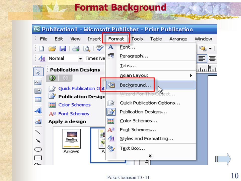 10 Format Background
