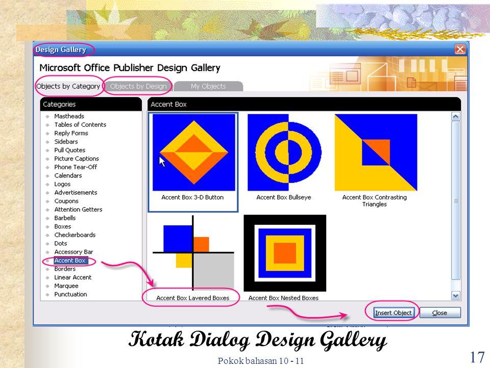 Pokok bahasan 10 - 11 17 Kotak Dialog Design Gallery