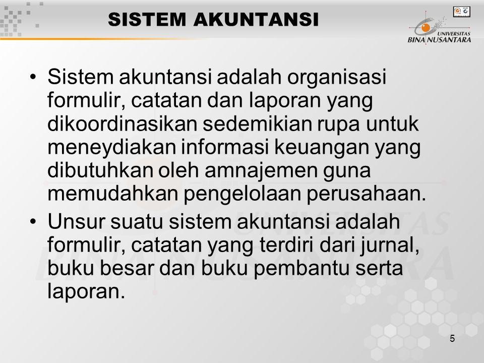 6 SISTEM & PROSEDUR SISTEMPROSEDUR Sistem adalah suatu jaringan prosedur yang dibuat menurut pola yang terpadu untuk melaksanakan kegiatan pokok perusahaan.