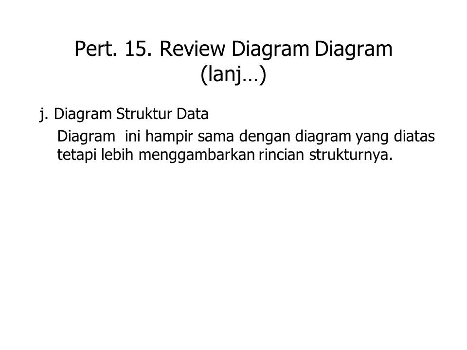 Pert. 15. Review Diagram Diagram (lanj…) j.