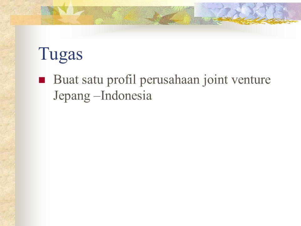 Tugas Buat satu profil perusahaan joint venture Jepang –Indonesia