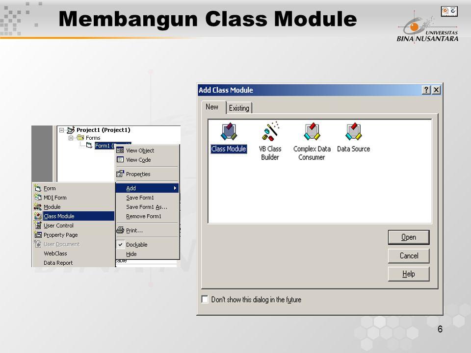 6 Membangun Class Module