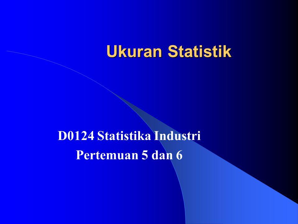 Ukuran Statistik D0124 Statistika Industri Pertemuan 5 dan 6