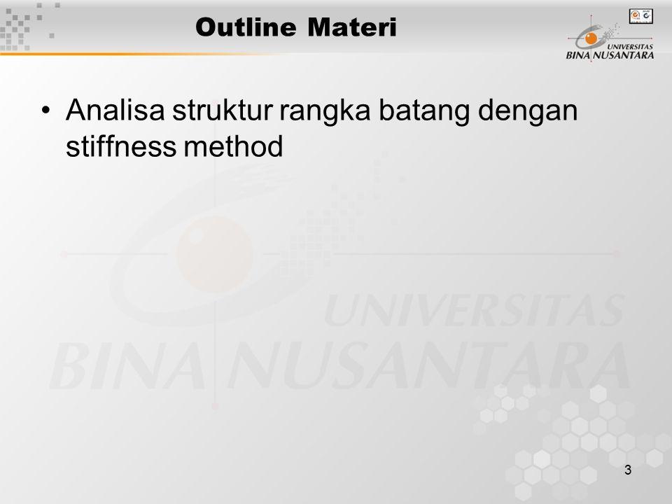 3 Outline Materi Analisa struktur rangka batang dengan stiffness method