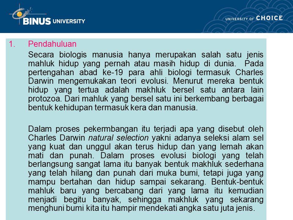 Bina Nusantara 2.Teori Evolusi 2.1.