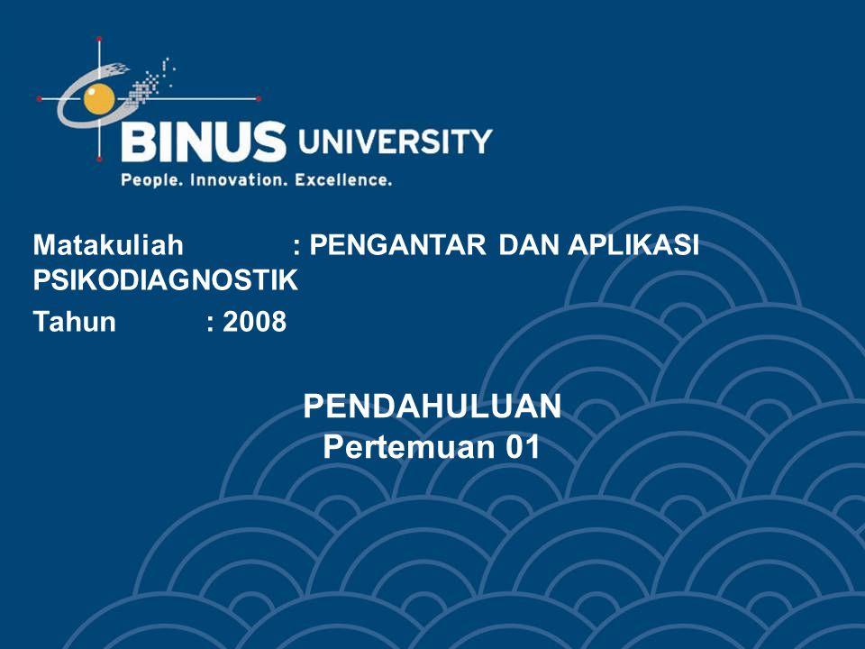Bina Nusantara University 13 KEGUNAAN PSIKODIAGNOSTIKA FUNGSI TES PSIKOLOGIS; Untuk mengukur perbedaan-perbedaan individu.