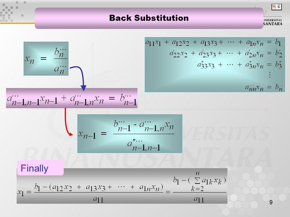 10 Gauss Elimination