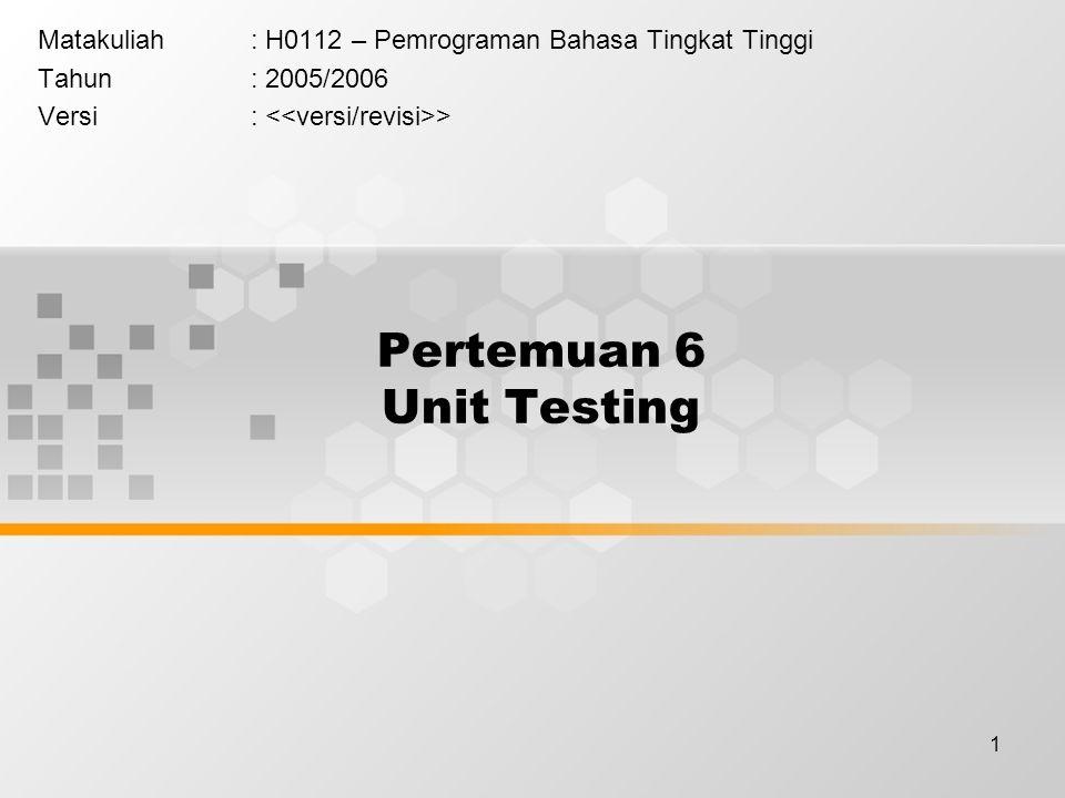 12 Cakupan Analisa Test/Code Cakupan Analisa adalah alat ukur untuk menentukan seberapa banyak koding tertentu telah di-test.