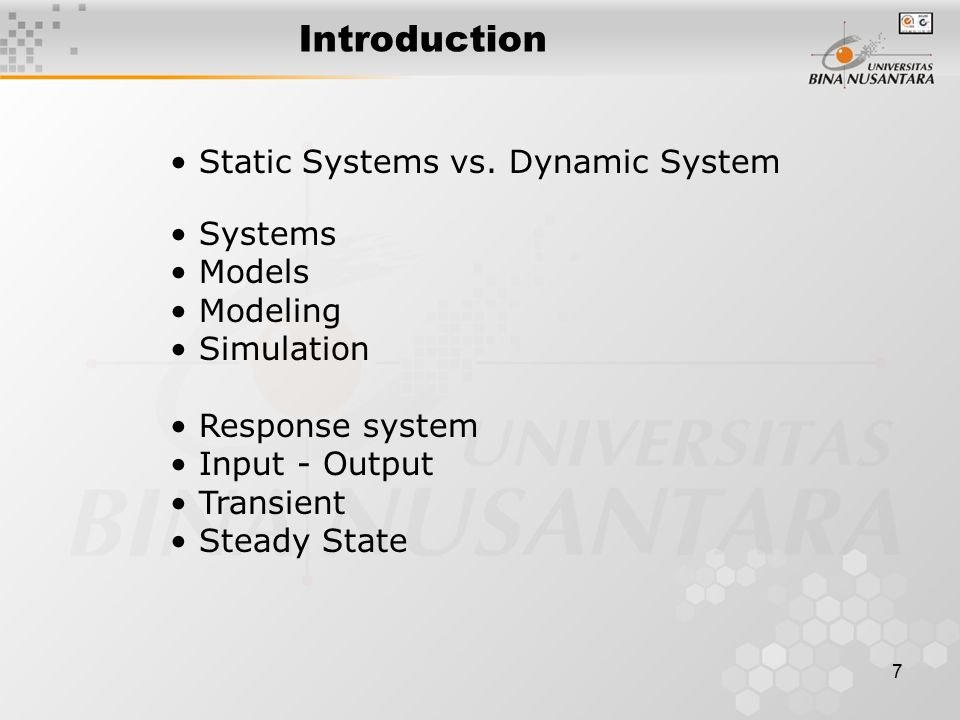 8 Step in Modeling Systems