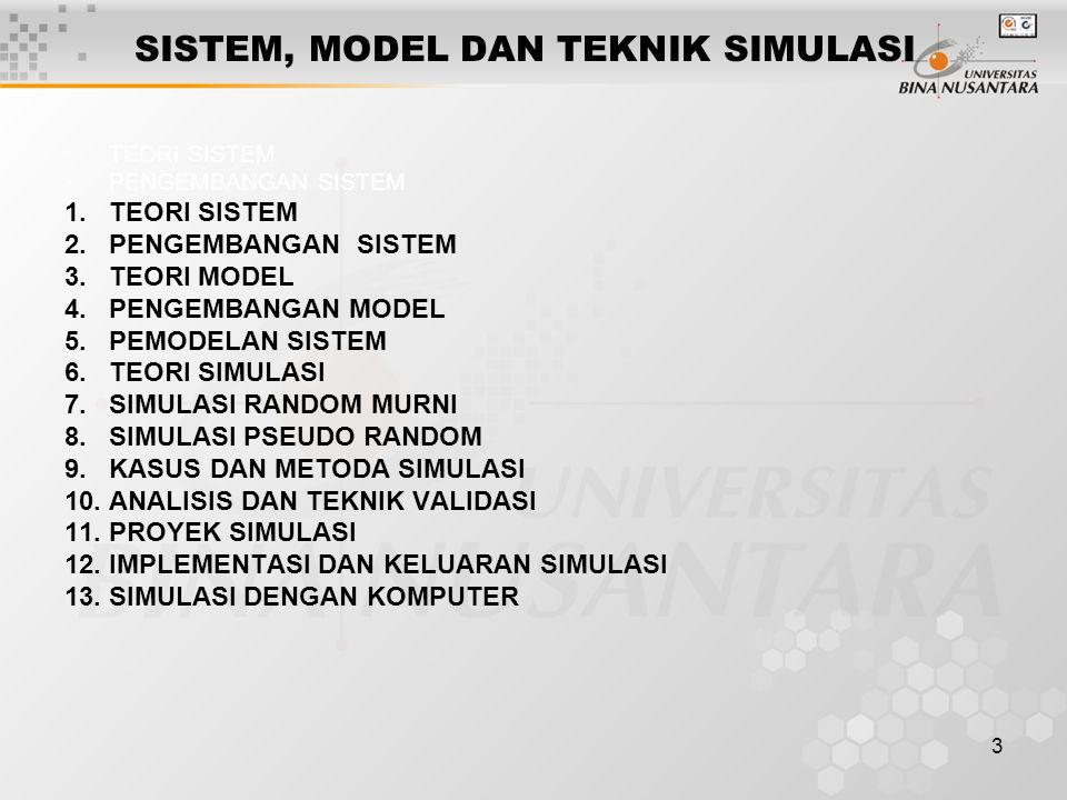 4 PENDAHULUAN; TEORI SISTEM Definisi; Russel L.Ackof (1968); a system is any entity, conceptual or physical, which consists of interdependent parts…..