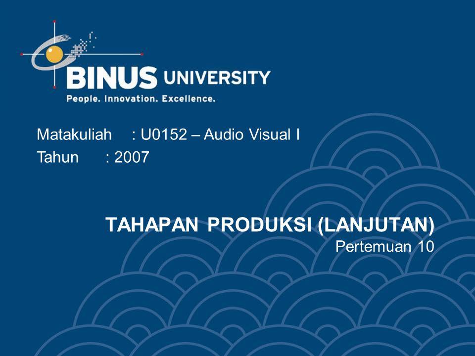 Bina Nusantara Komposisi gambar Pengaturan / penataan dan penempatan unsur-unsur gambar kedalam frame / bingkai gambar.