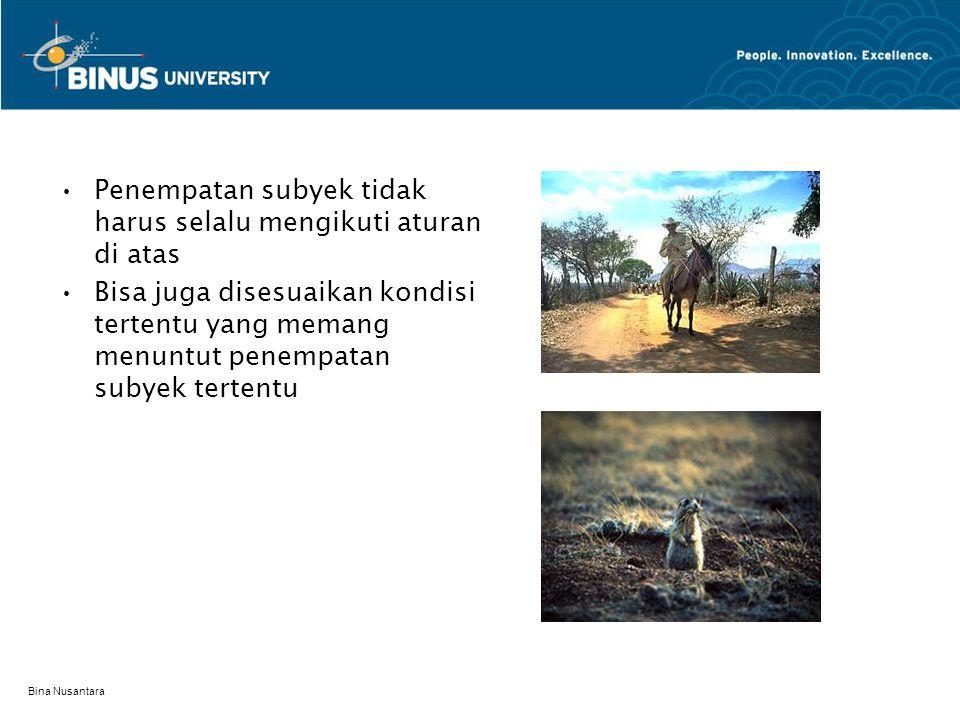 Bina Nusantara framing