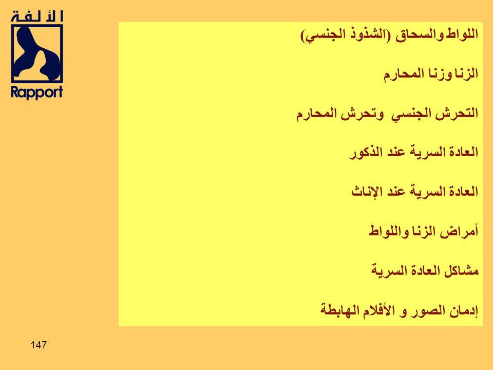 146 40 % من المتزوجين يواجهون مشكلات جنسية جريدة الرياض ذي الحجة 1427 50 % من السجينات في المملكة حرمن العاطفة والجنس 1426 التربية الجنسية د. محمد الس
