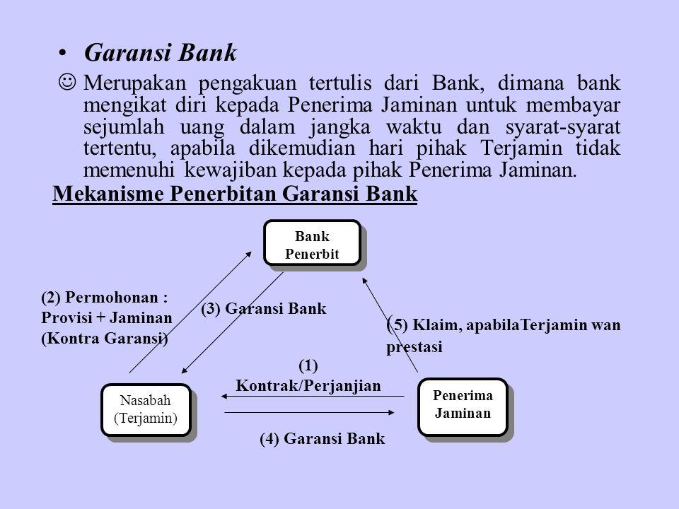 Garansi Bank Merupakan pengakuan tertulis dari Bank, dimana bank mengikat diri kepada Penerima Jaminan untuk membayar sejumlah uang dalam jangka waktu