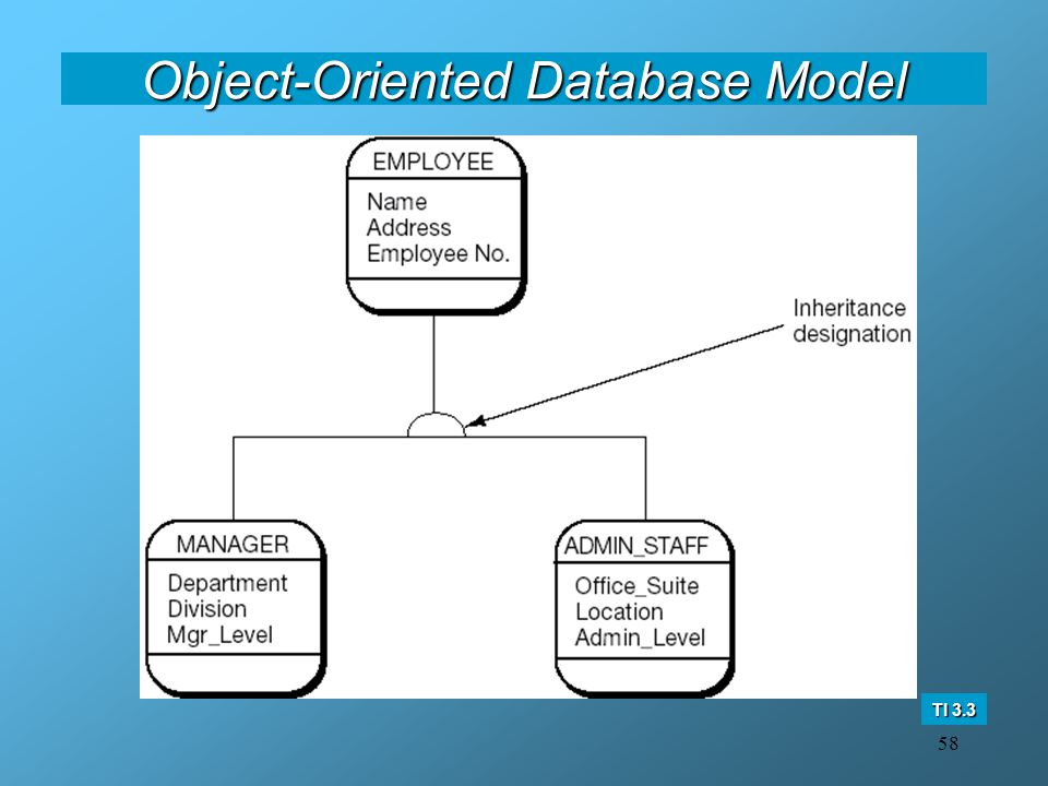 58 Object-Oriented Database Model TI 3.3