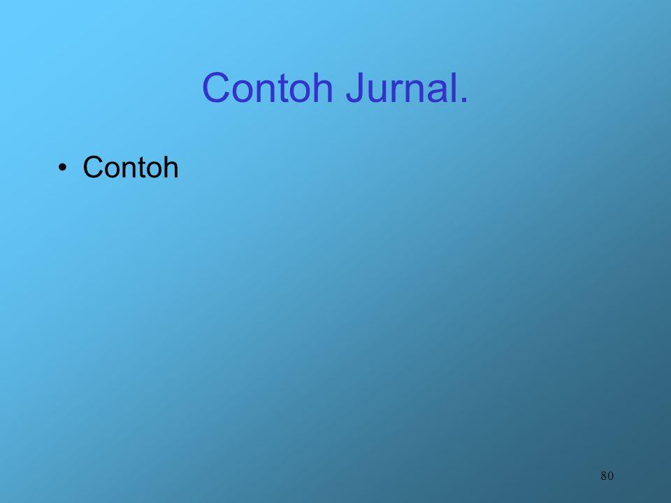 80 Contoh Jurnal. Contoh