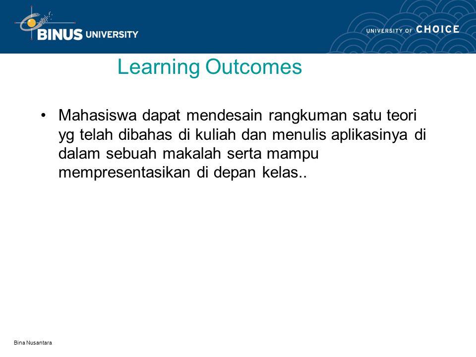 Bina Nusantara Pedoman pembuatan makalah Pertemuan 26 : Mata kuliah:K0144/ Matematika Diskrit Tahun:2008