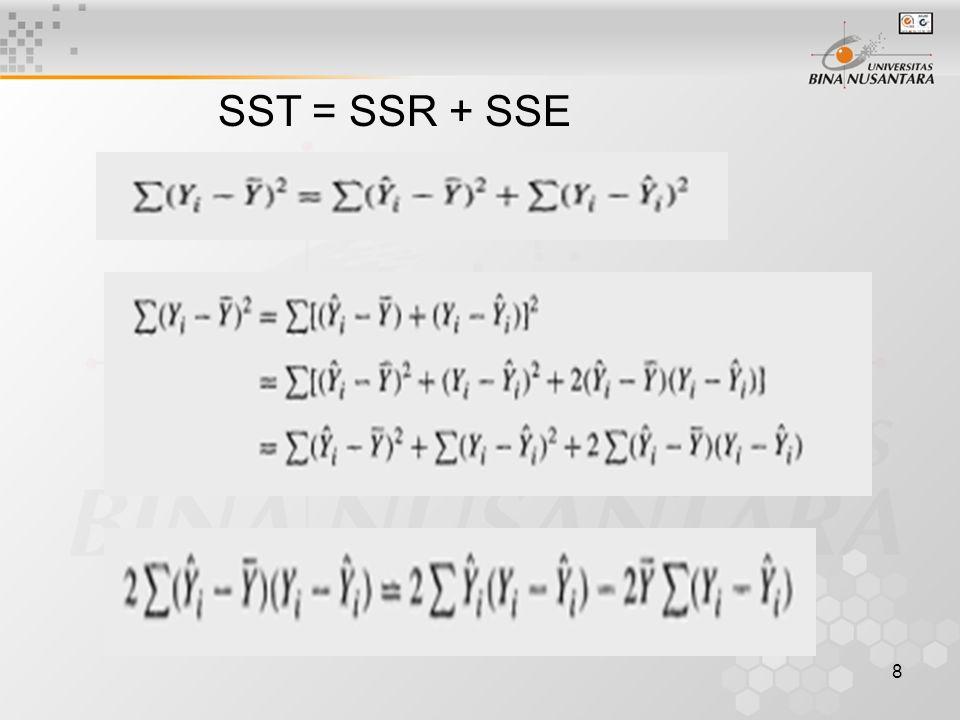8 SST = SSR + SSE