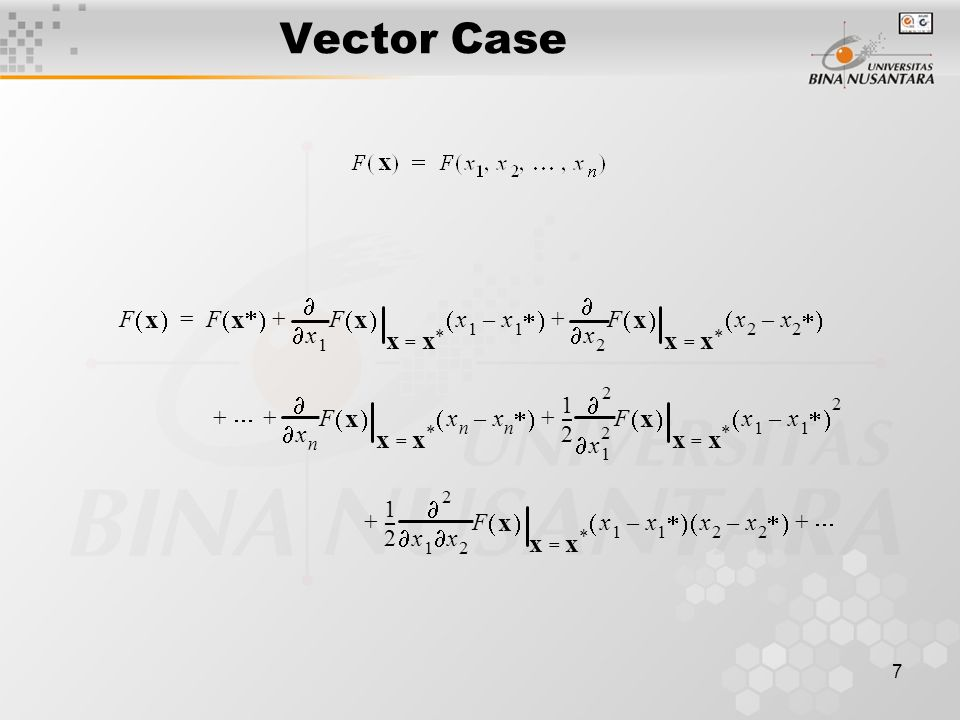 7 Vector Case