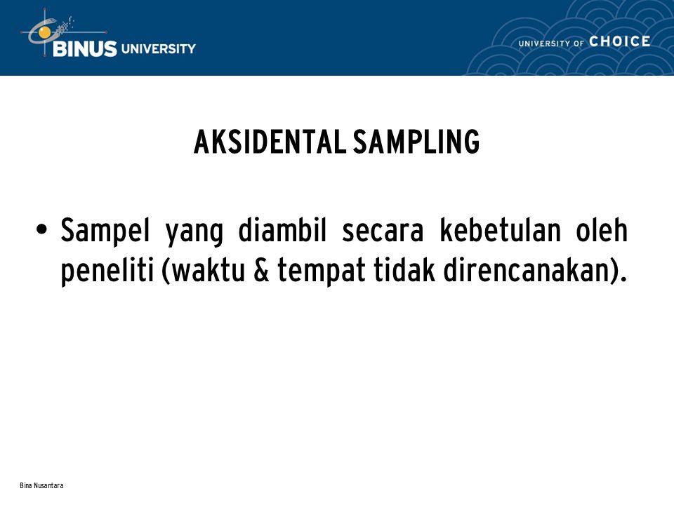 Bina Nusantara QUOTA SAMPLING