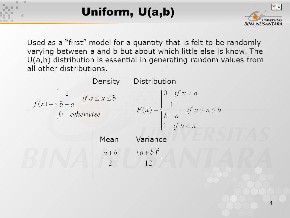 5 Uniform, U(a,b)