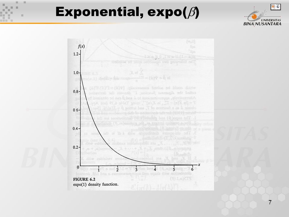 7 Exponential, expo(  )