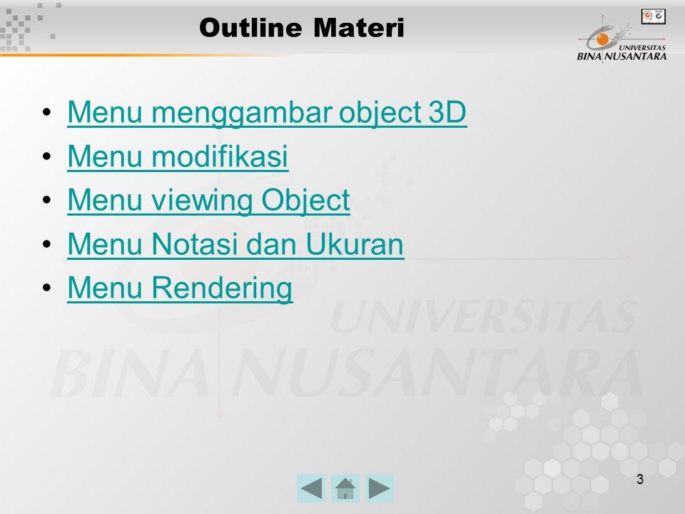 4 Menu menggambar object 3D