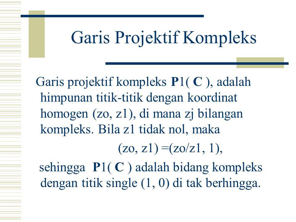 Pokok Bahasan Koordinat-koordinat Projektif (lanjutan)