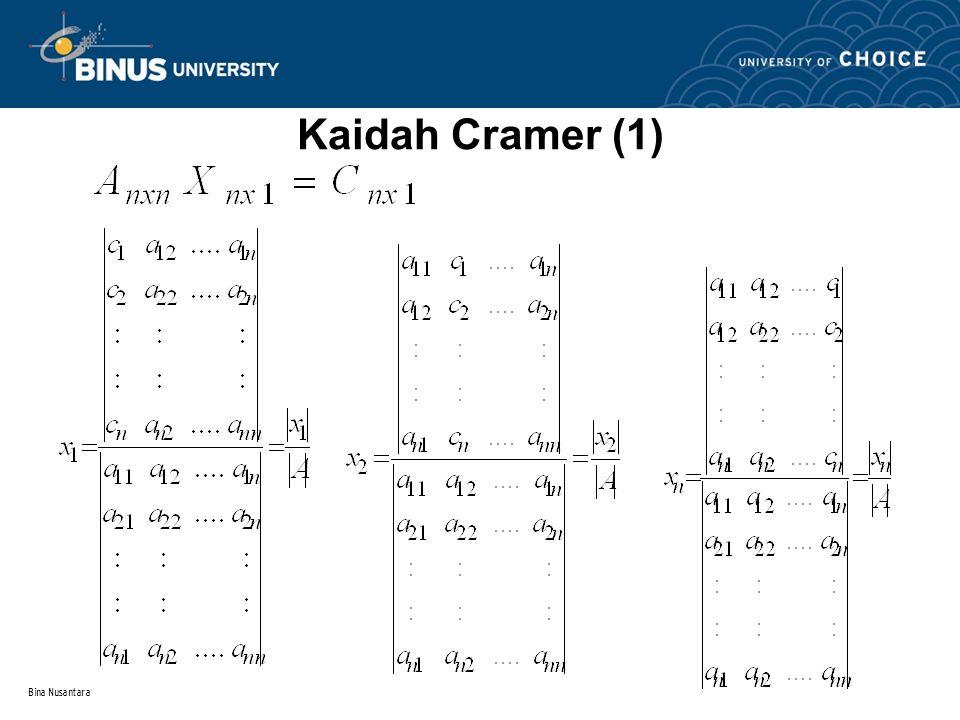 Bina Nusantara Kaidah Cramer (1)
