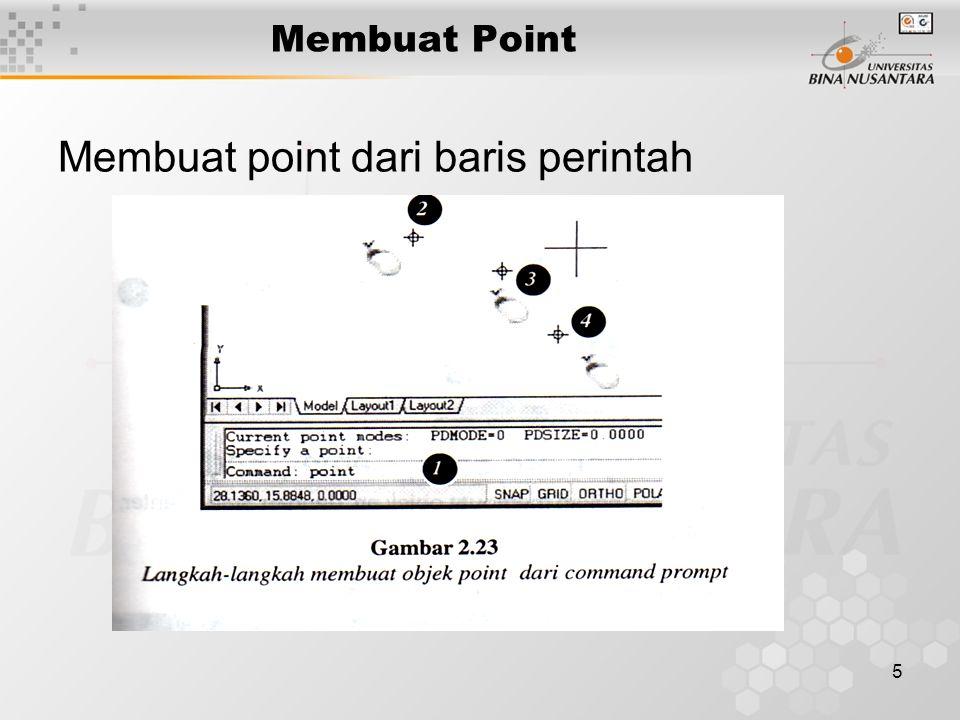 5 Membuat Point Membuat point dari baris perintah