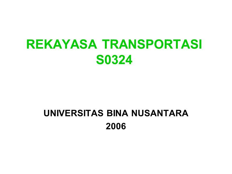 REKAYASA TRANSPORTASI S0324 UNIVERSITAS BINA NUSANTARA 2006