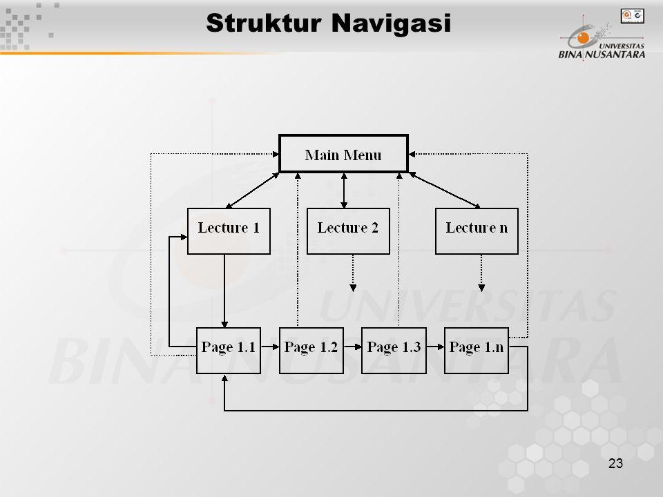 23 Struktur Navigasi