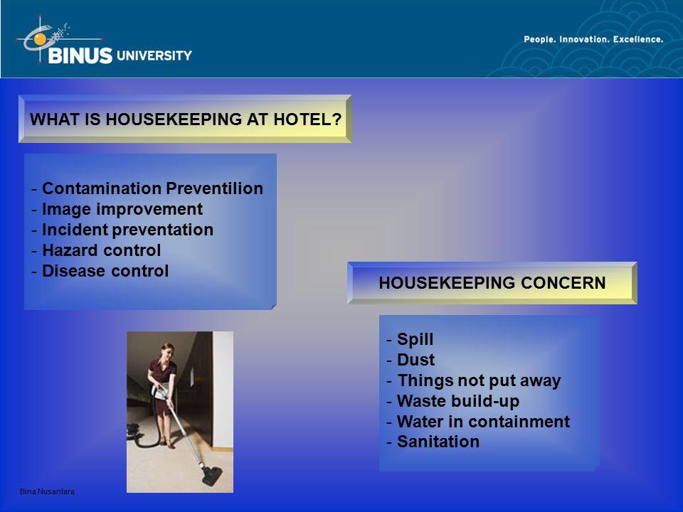 Bina Nusantara WHAT IS HOUSEKEEPING AT HOTEL.